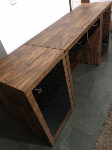 Mesa escrivaninha Dalla Costa - 3 peças - Foto 3