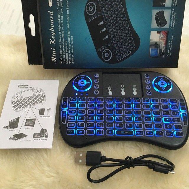 Teclado wifi tv box smart tv
