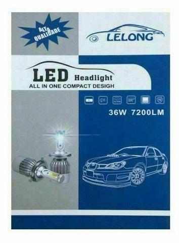 Lâmpada Super Led Para Farol De Carro C6-h4 36w Lelong - Foto 2