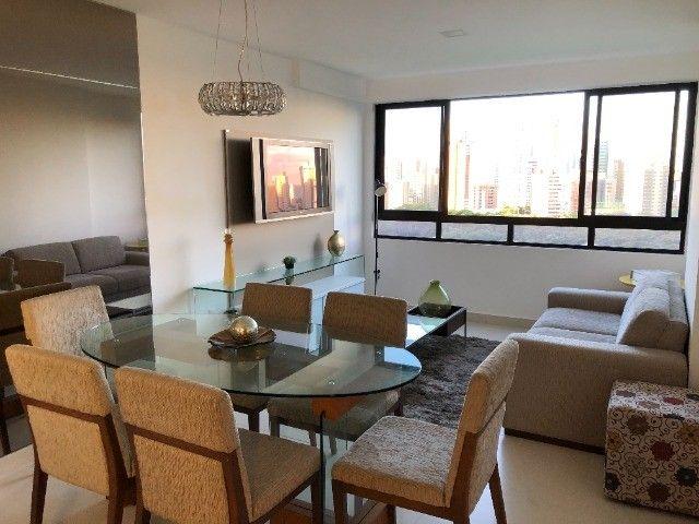 Rio Ariaú-84m²- 3 qtos s/ 1 suíte + escritório- andar intermediário-Mobiliado- Miramar