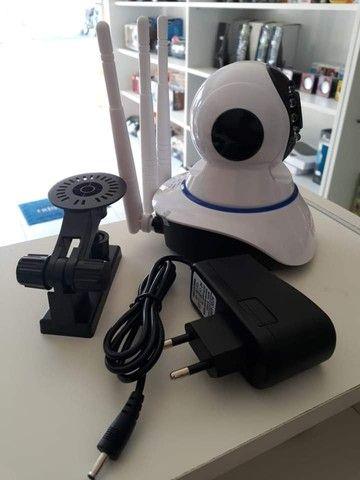 Câmera Robô Wifi Sem Fio HD Entrada Sd - Foto 3