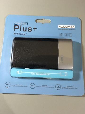Bateria externa 4.000mAh plus+ capa em couro