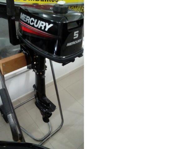 Motor de popa Mercury 5hp zero - Foto 4