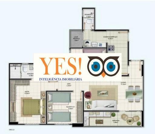 Apartamento 3/4 para Venda no DOM Vertical - Santa Monica - Foto 4