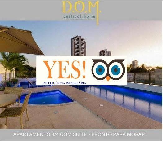 Apartamento 3/4 para Venda no DOM Vertical - Santa Monica
