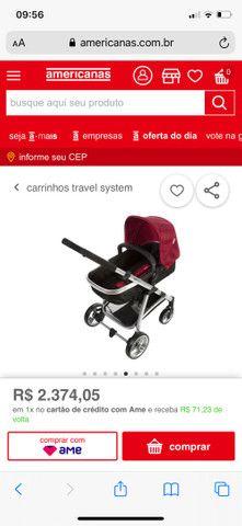 Vendo carrinho de bebê semi novo  - Foto 5