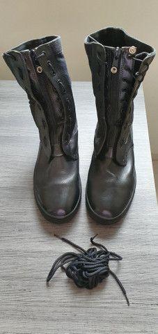 Coturno bota 43 seminova - zíper e cadarso