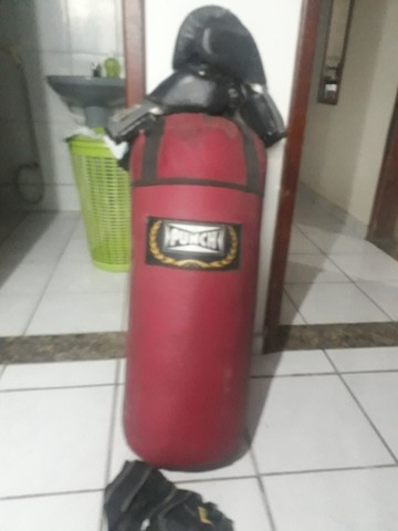 saco de pancada 90 cm, 2 luvas - Foto 2