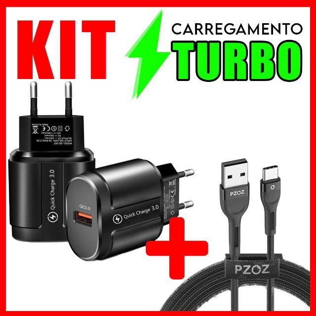 Carregador Turbo carregamento rápido 3.0 alta qualidade android