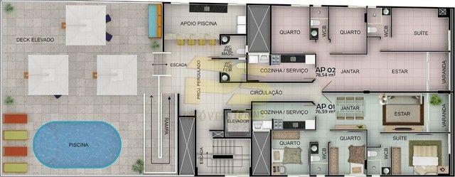 Apartamento à venda com 3 dormitórios em Cabo branco, João pessoa cod:PSP551 - Foto 19