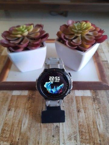 Relógio smartwatch Lemfo K22 recebe e faz chamadas novo - Foto 2