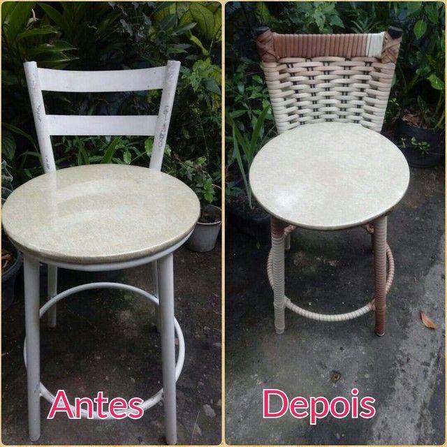 Cadeira de fibra ( reforma ) - Foto 6
