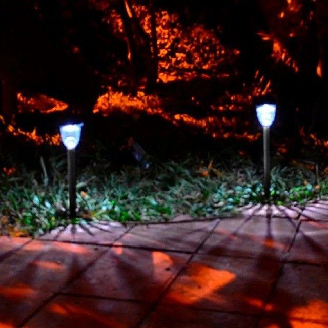 Kit 10 Luminária Espeto Solar Poste De Jardim Decoração Led - Foto 2