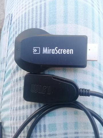 Adaptador mirascreen hdmi transforma tv em smart tv
