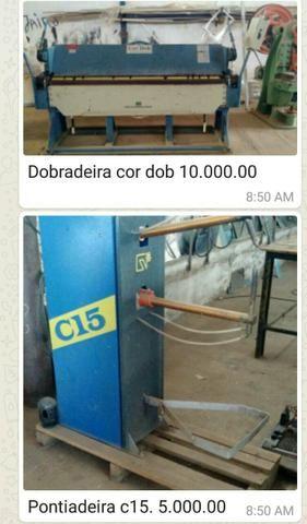 Dobradeira, Guilhotina, prensa hidráulica,pontiadeira, máquinas semi novas