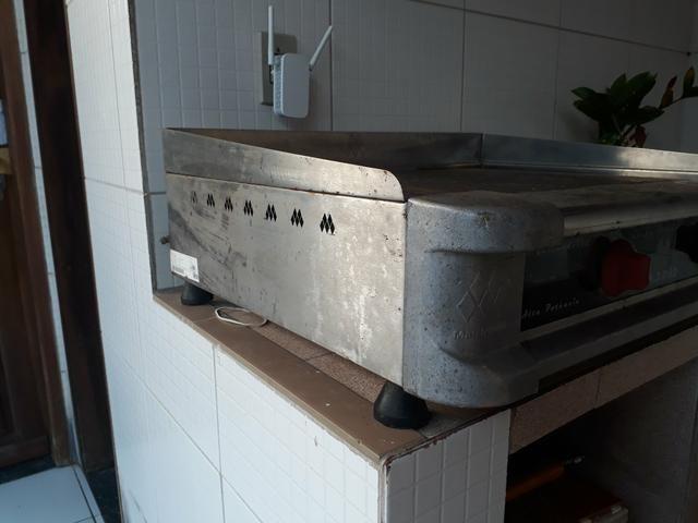 Chapa profissional R$ 500,00 2 bocas elétrica e a gás - Foto 2
