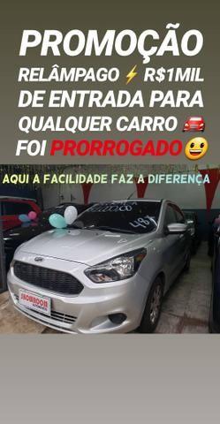 Recuse IMITAÇÕES!! R$1MIL DE ENTRADA SÓ NA SHOWROOM(FORD KA 1.0 2015)