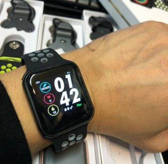 Relogio Inteligente Smartwatch F8 iPhone Android Troca Pulseira Várias Funções - R$ 180,00 - Foto 2