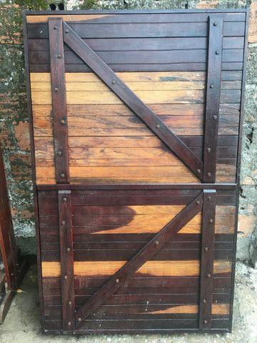 Portão e janela de madeira  - Foto 4