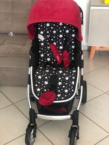 Vendo carrinho de bebê semi novo  - Foto 3