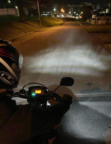 Lâmpada Moto Led Efeito Xenon H4 Super Branca 8000k 40w - Foto 4