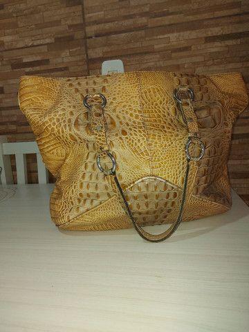 Bolsa de couro de crocodilo Lenny  - Foto 2