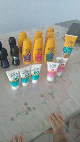 Desodorante e protetor solar