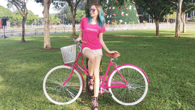 Linda bicicleta feminina - Foto 6