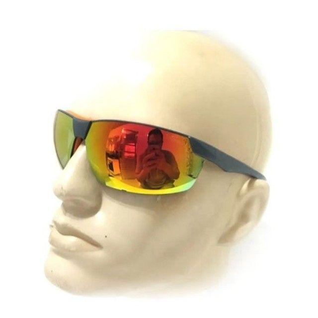 Óculos Proteção UV Espelhado - Anti Embaçante - Anti Risco - Ciclismo - Pesca - Foto 4