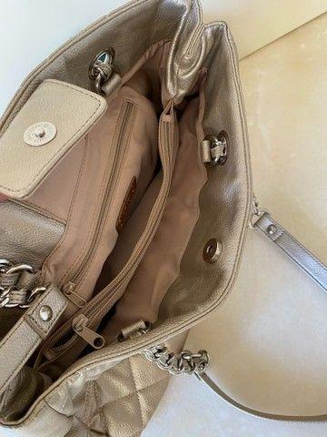 Bolsa de couro Nine West.. bege  - Foto 3
