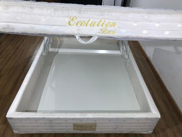 Cama Box Casal Conjugado Evolution Herval Branco - Foto 3