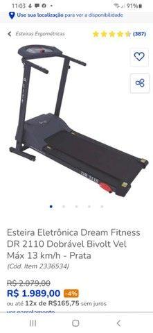 Esteira eletrônica Dreams Fitness Dobrável  - Foto 3