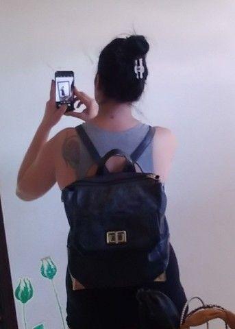 2 bolsas=Bolsa saco+Mochila bolsa WJ original, preto fosco com detalhes em dourado.   - Foto 2