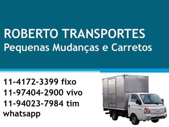 Roberto Transportes Pequenas Mudanças Carreto em Geral - Agende