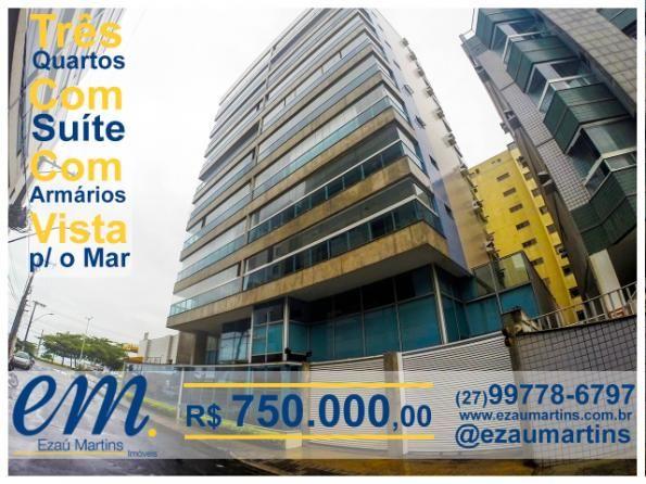 Jardim Camburi - 3 Qtos C/ Suite, 120 M² Prédio Top - Sol Manhã, V. Mar - Lazer Completo