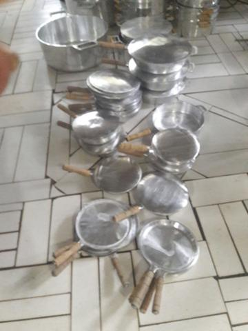 Tapioqueira de aluminio batido
