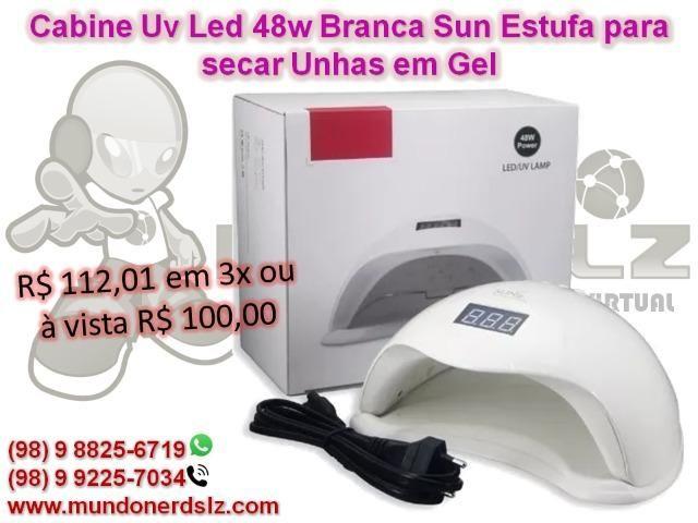 Cabine Uv Led 48w Branca Sun Estufa para secar Unhas em Gel em São Luís MA