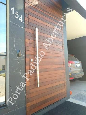Portas de madeira maciça para Curitibanos - Foto 4
