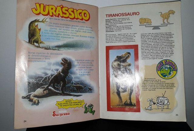 Álbum De Figurinhas Dinossauros Nestlé Surpresa - Completo com 30 figurinhas <br><br> - Foto 2