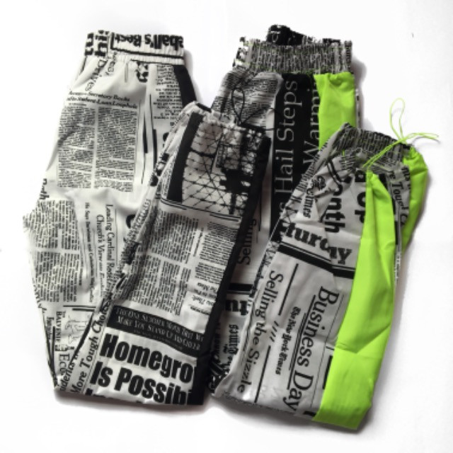 Calça jogger jornal