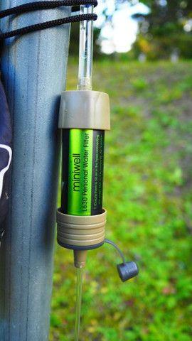 Filtro água acampamento trilhas camping trekking Miniwell original - Foto 5