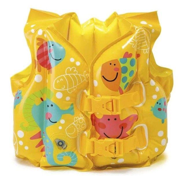 Colete salva vidas inflável infantil NOVO