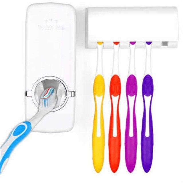 Dispender de Creme Dental + Suporte para Escovas