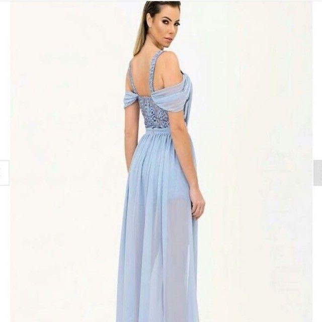 Vestido de festa Camila Siqueira azul serenity NOVO  - Foto 2