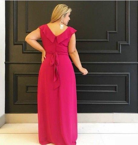 Vestido de festa rosa pink Plus size NOVO. - Foto 2