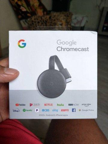Chromecast original nunca usado, praticamente novo