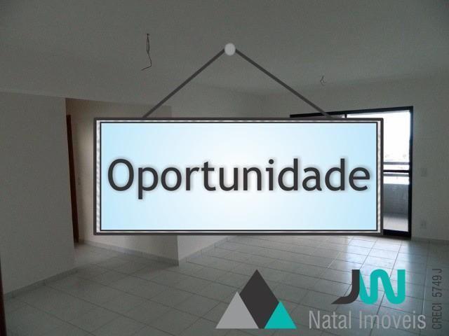 Apartamento com 3 quartos mais dependência completa, vista para Ponta Negra