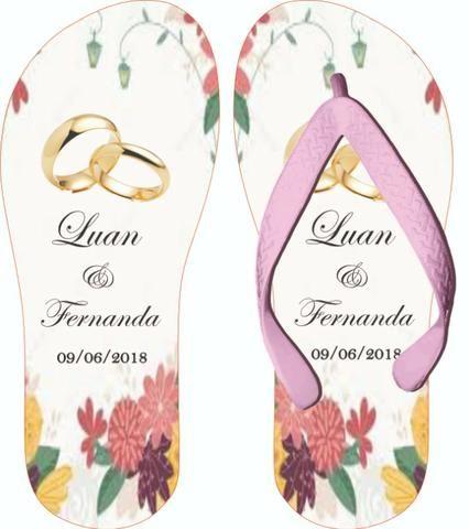 Chinelos Personalizados Casamentos e Formaturas - Foto 6