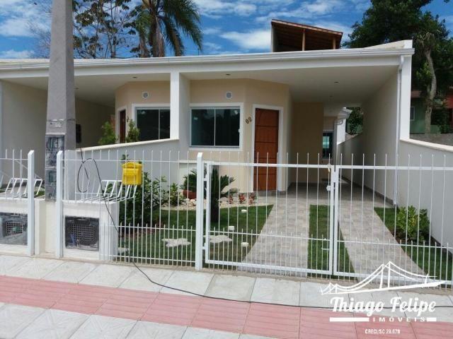 Casa, 2 Dorm garagem coberta em São José -SC (Lot. Palmeiras)