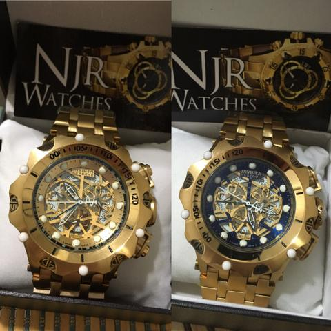 402feb2d582 PREÇO DE CARNAVRAU Relógio hybrid skeleton Lacrado dourado ou azul marinho